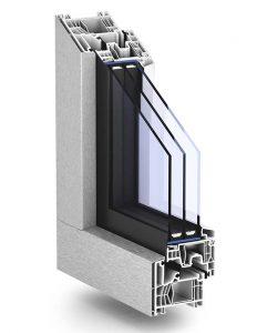 Plastovo-hliníkové okno Trocal 76 AluClip